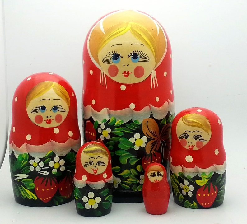 Russische Nesting Matryoshka Puppe Set traditionelle Hand ...