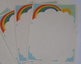 8 Rainbow Memo Sheets for Journaling & Scrapbooking