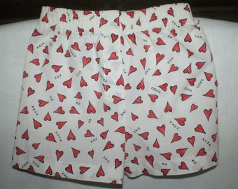 Love Hearts boxers,shorts for kids