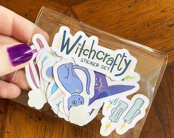 Witchcrafty Sticker Set | Witchy Stickers | Witchcraft Planner Stickers | Sticker Pack | Witch Gift