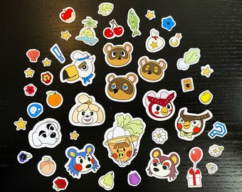 Animal Crossing New Horizons Sticker Pack - Full Size or Planner Size