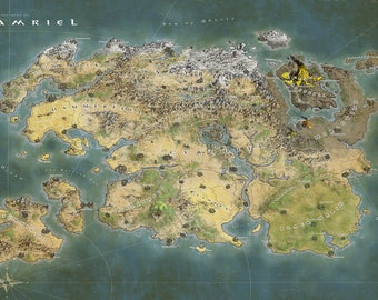 Tamriel Map Poster