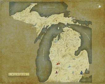 Michigan Fantasy Map