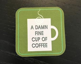 Damn Fine Cup of Coffee Sticker | Twin Peaks Sticker | Coffee | Stickers