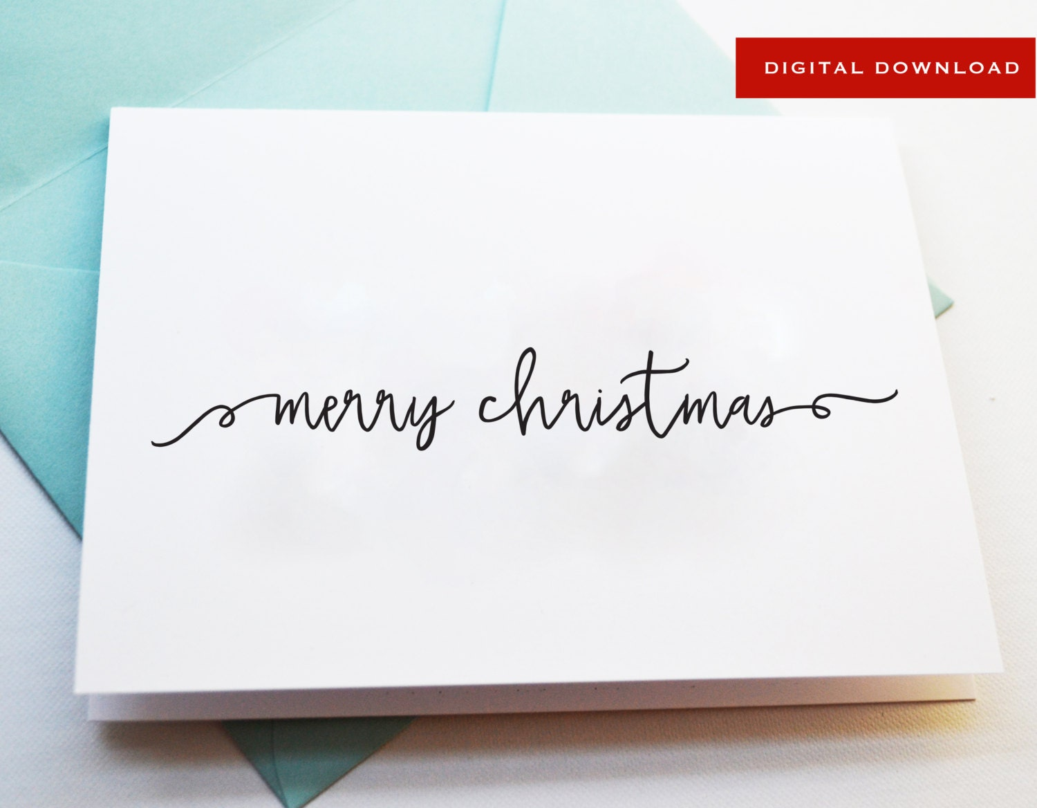 black and white printable merry christmas card pdf download