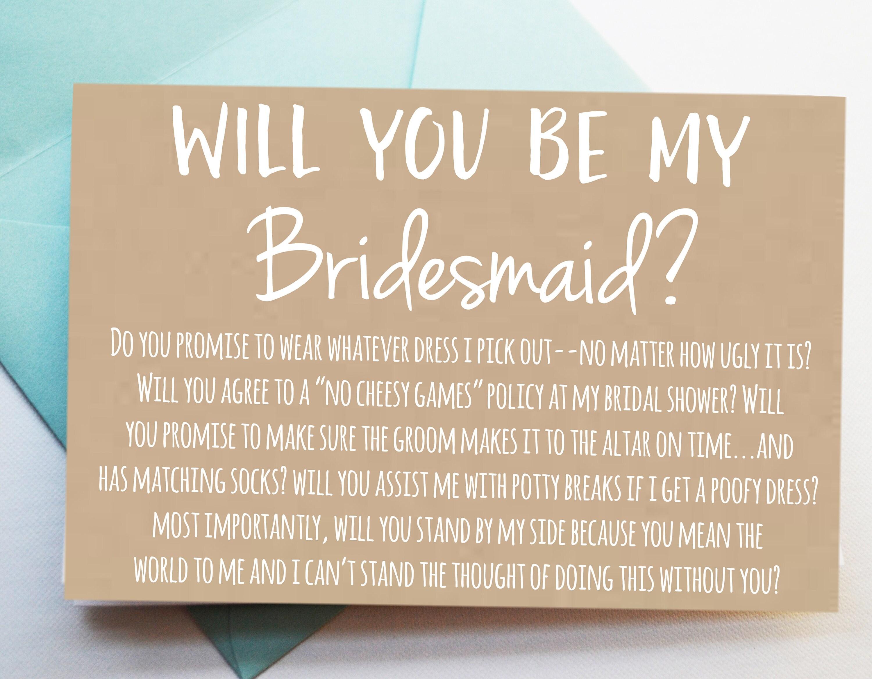 greeting card bridesmaid proposal card will you be my bridesmaid