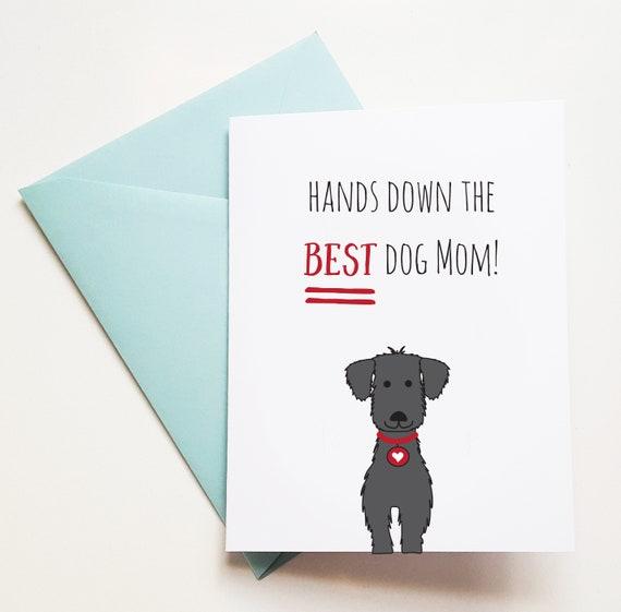 Cute Dog Birthday Card For Dog Mom Card From Dog Birthday