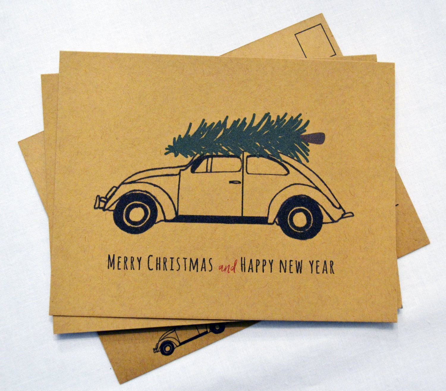 HOLIDAY POSTCARD SET of 20- Set of Merry Christmas and Happy New ...