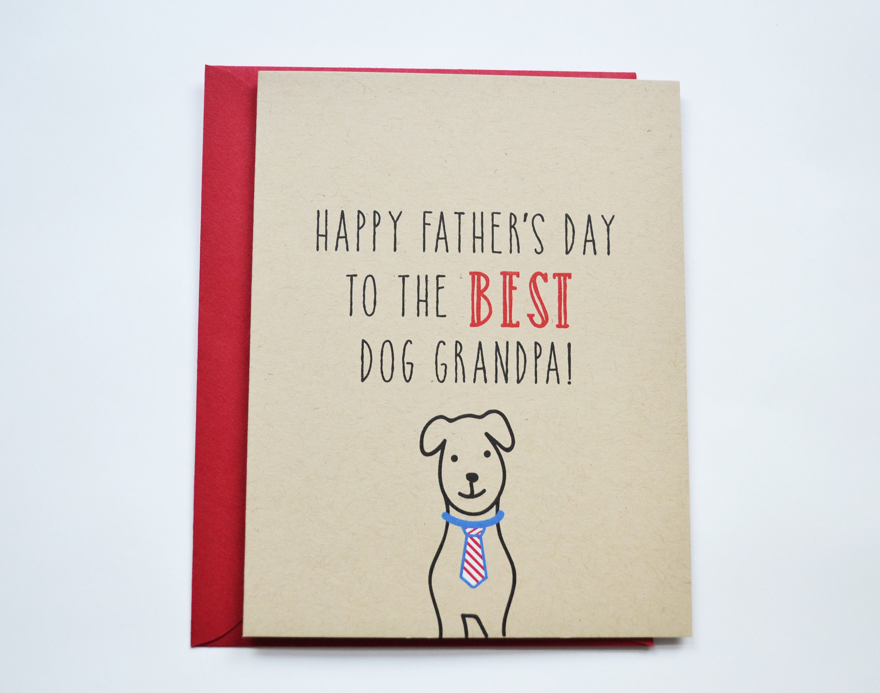 Happy Fathers Day Card For Dog Grandpa Dog Fathers Day Card For