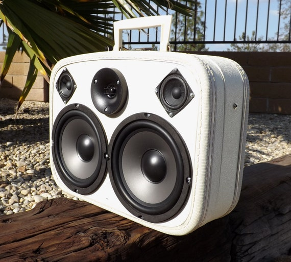 SOLD Vintage Liquor Travel Case Suitcase Boombox MP3 Player BLUTOOTH BOOZER by Hi-Fi Luggage