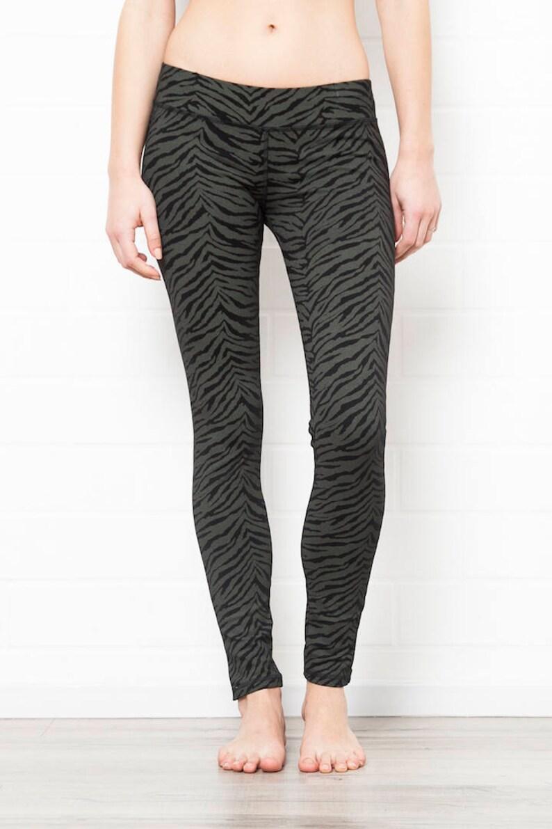 479f3a353e7f7f Daily Black Leggings BLACK ZEBRA LEGGINGS Yoga tights   Etsy