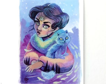 When I Dream - Limited Edition ACEO Giclée Fine Art Print
