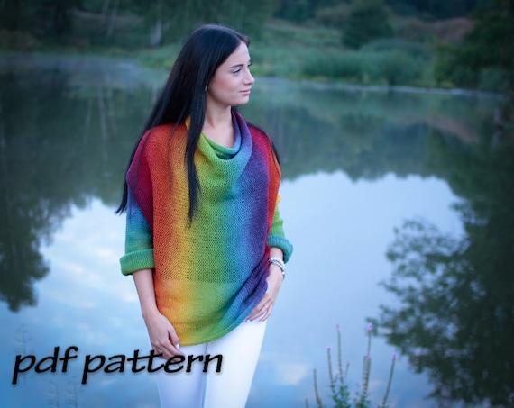 Knitting Pattern Fiesta Sweater Easy Pattern Pattern For Etsy