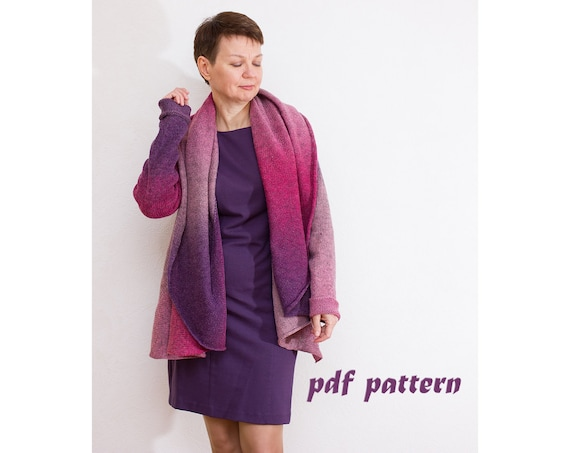 Knitting Pattern Women Cardigan Knitting Pattern Oversize Etsy