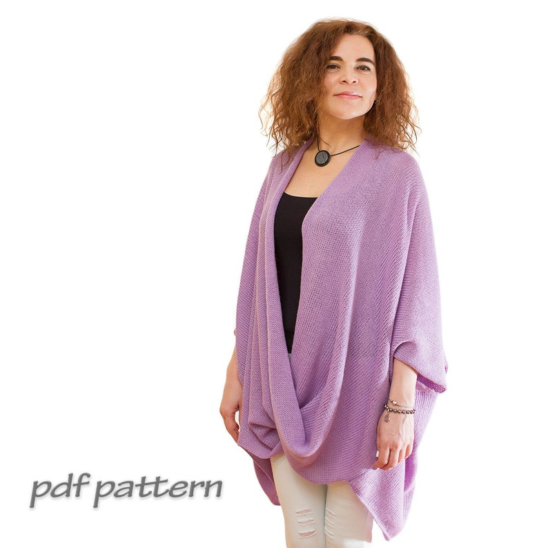 47a5973c49b10 KNITTING PATTERN Knit sweater beginner Pink Lavender Cardigan