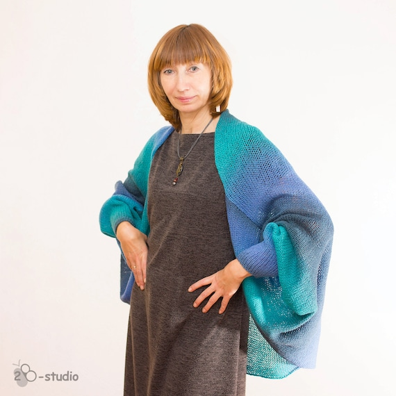 Knitting Pattern Women Cardigan Easy Pattern For Beginner Bat Etsy