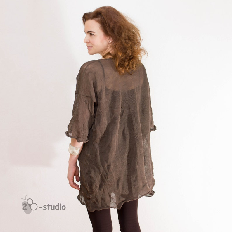208019a2673 PATTERN 3-dimensional tunic Trendy plus size tunic Knitting
