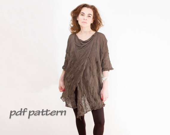 Pattern 3 Dimensional Tunic Trendy Plus Size Tunic Knitting Etsy