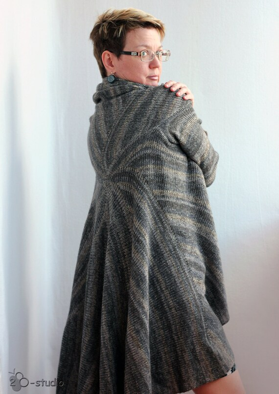 Pattern Knitted Coat Pdf File Instant Download Convertible Etsy