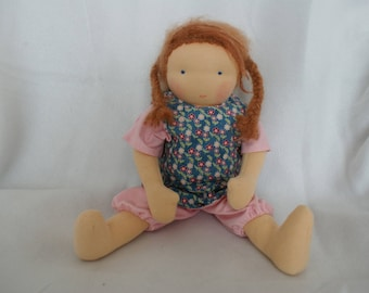 Doll Waldorf style, custom, personalized, 100% handmade, unique birthday gift