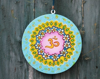 Wallhanging,Homedecor,Birthdaygift,Gift,Handpainted,Original,Love,Art,Painting,Aum,Symbols,Yoga,Canvas,CustomMade/anouksartstudio