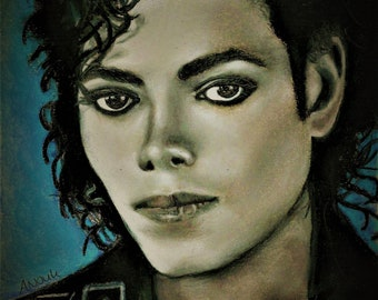 Michael Jackson Poster Music King Of Pop Popstar Drawing Legends Posters Art