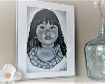 Portrait,Drawing,Custommade,Pencil,Art,BlackandWhite,Original,Handmade,AnouksArtStudio,Commission,Portraitoncommission