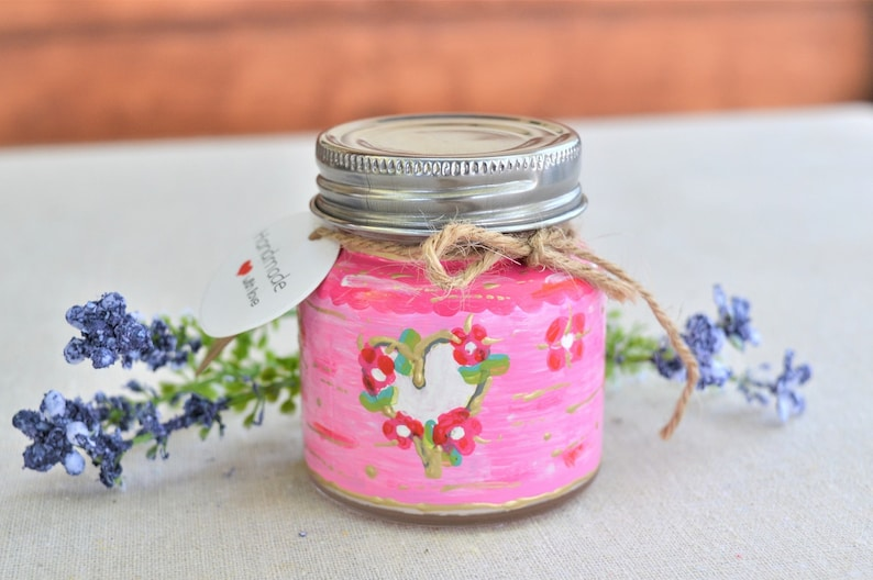 Wedding Candle Handpainted and Handpoured with Natural ingredients