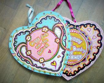 Art,Wallhanging,Homedecor,Wallhanging,Homedecor,Birthdaygift,Gift,Handpainted,Original,Love,Art,Painting,Symbols,Canvas