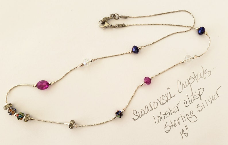 18 Swarovski Crystals Necklace with Lobster Clasp  image 0