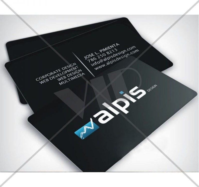 Full Color PVC Plastic Business Cards  Clear Frosted White image 0