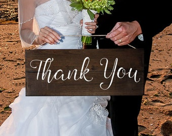 Thank You Sign Wedding Thank You Sign Wood Thank You Sign Thank You Photo Prop Rustic Wedding Sign Thank You Banner Photo Prop