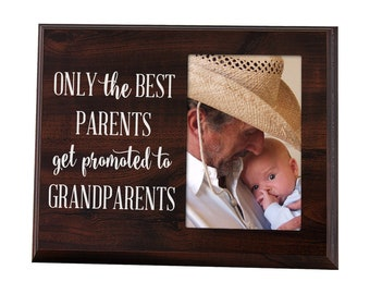 Only the Best Parents Get Promoted to Grandparents Gift for Grandparents Ultrasound Picture Frame Baby Announcement Gift