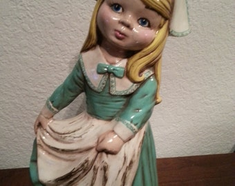 Ceramic Holland Girl Figurine - 11 1/4 inches tall