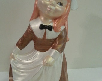 Ceramic Holland Girl Figurine - 11 3/4 inches tall