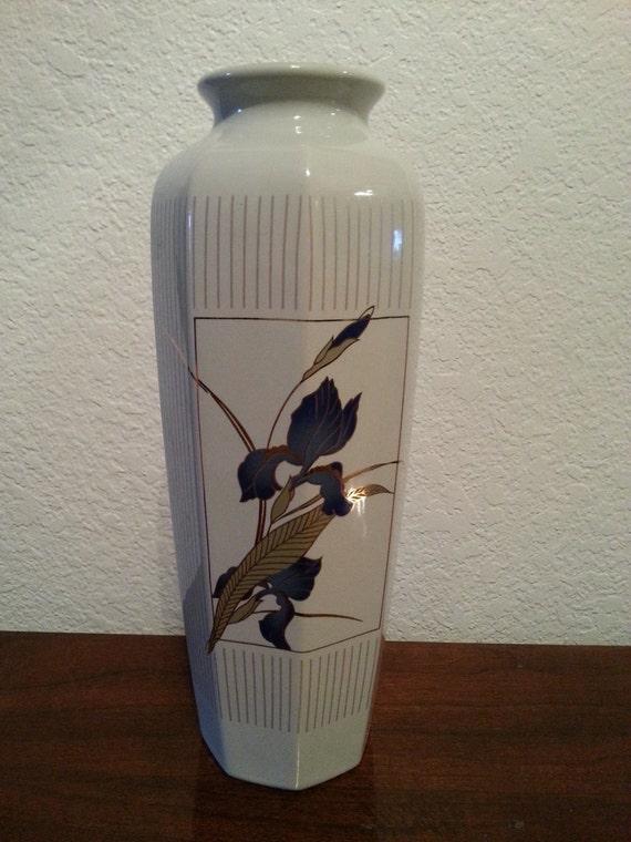 Grand Iris Otagiri Ceramic Vase Made In Japan Etsy