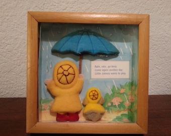 Rain, Rain, Go Away framed picture