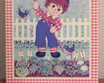 Vintage Raggedy Andy Wall Picture