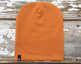 Organic Baby Hat Orange Toddler Beanie Slouchy Hat Baby Boy Beanie Hipster  Hat Gift for Boy Orange Stocking Cap Newborn Hat Organic Clothing df10ba0f13f8