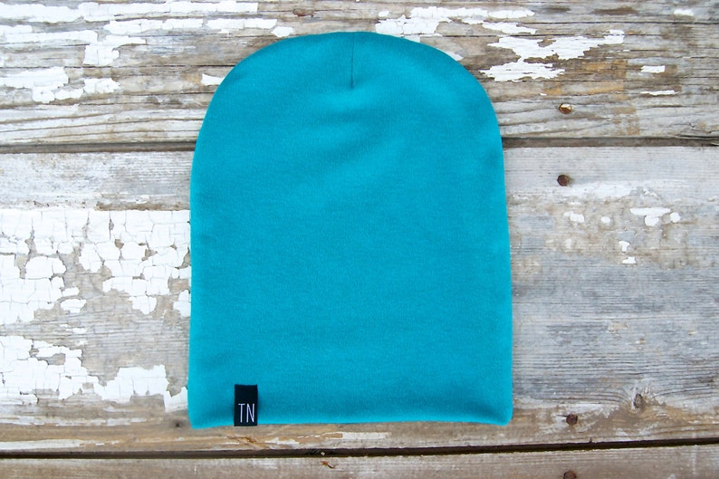 Baby Slouch Beanie Oversized Hat Boy Beanies Girl Beanies Unisex Hats Teal Beanie Winter Hat Beanie for Baby Shower Gift Photo Prop