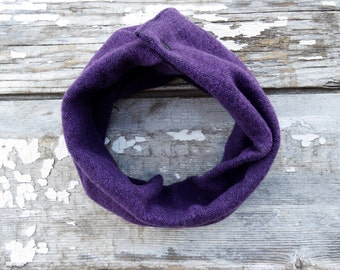 Baby Snap Scarf Flannel Scarf Purple Baby Scarf Snap Back Herringbone Scarf with Snaps Bandana Bib Infant Scarf Gifts under 20 Baby Shower