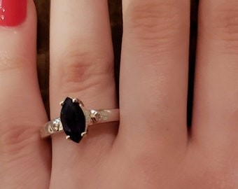 499eca8dd0131 Marquise onyx ring | Etsy