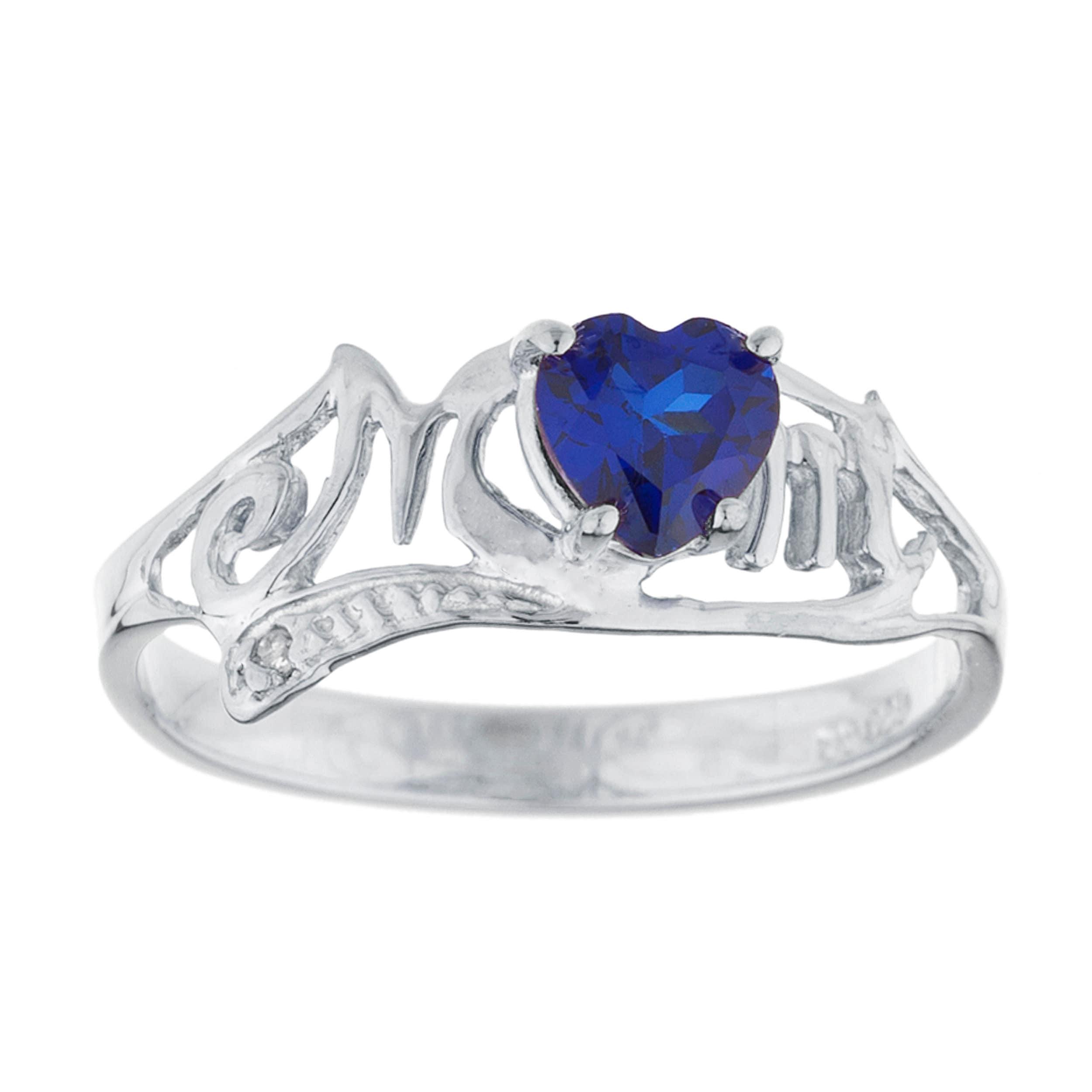 1 Ct Created Blue Sapphire /& Diamond Round Stud Earrings .925 Sterling Silver Rhodium Finish