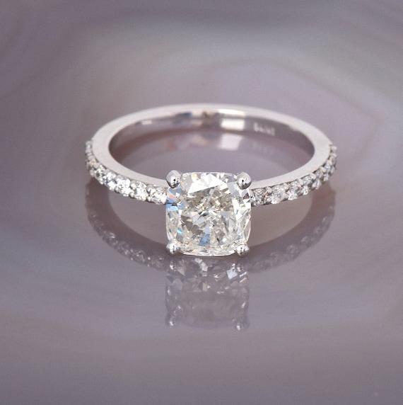 Cushion Cut Diamond Engagement Ring 1 20 Carat Diamond Ring Etsy