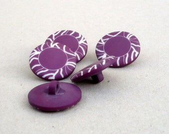 Purple Buttons , 22 mm  Buttons  , Magenta And White Buttons ,CostaSul , Buttons  , Sewing And Needlecraft Supplies