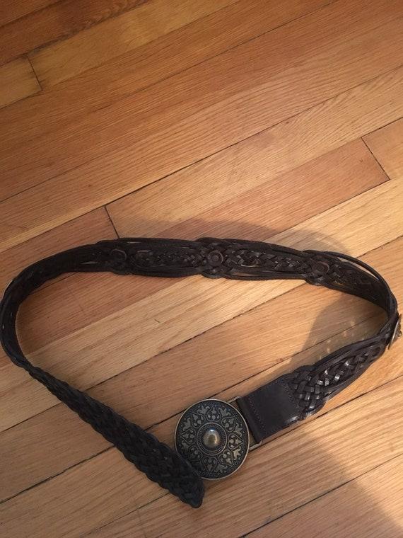 Vintage Alice Tournier Leather Belt - image 1
