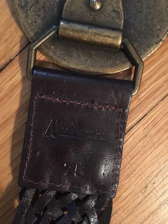Vintage Alice Tournier Leather Belt - image 4