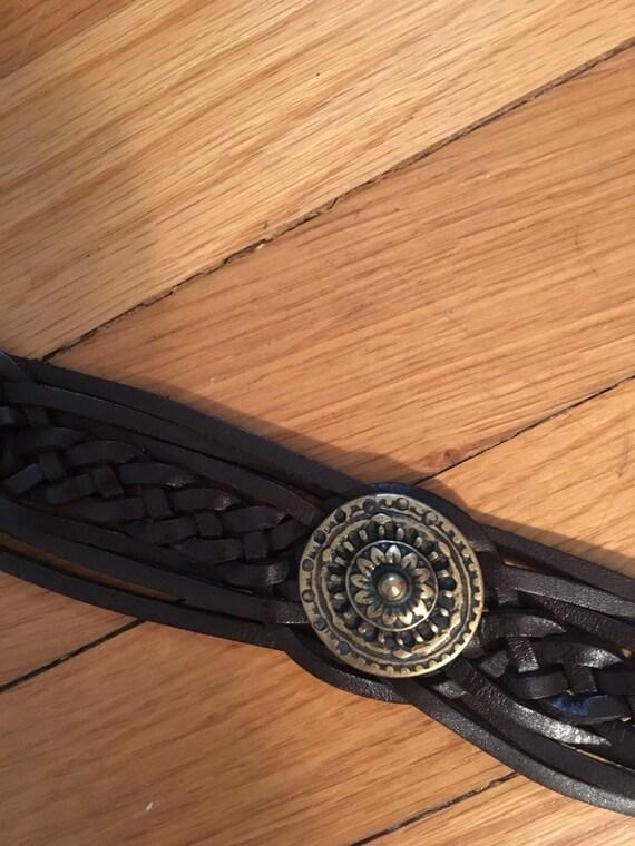 Vintage Alice Tournier Leather Belt - image 3
