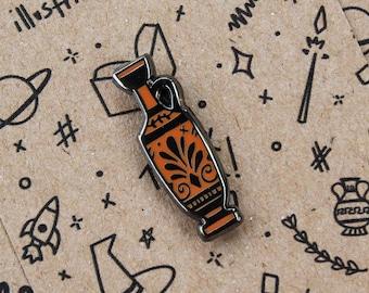 Greek Lekythos Enamel Pin   Greek Pottery Inspired Hard Enamel Pin   Lekythos Pottery Pin