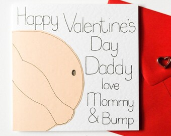 Bump Valentine S Day Card Mommy To Be Card Mommy To Be Etsy